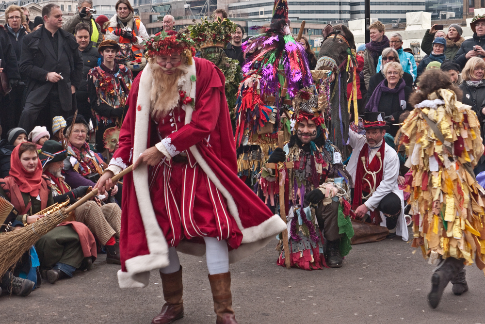 Mummers plays were traditional folk dramas performed at Christmas.